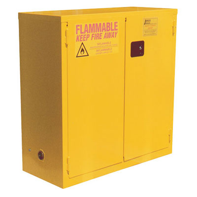 "Double-Walled, Self Close Flammable Liquid Storage Cabinet, 43""W x 18""D x 44""H"