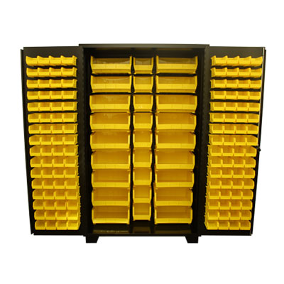 Model DP, 14 Gauge Bin Cabinet - 24'D x 78'H