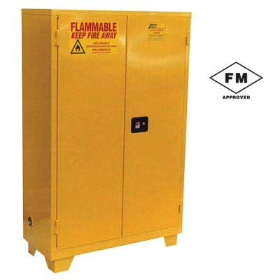 "Forkliftable Safety Cabinet for Flammables- Manual Close, 34""W x 34""D x 70""H"