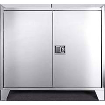 "Stainless Steel Cabinet with Paddle Latch Handle - 36""W x 18'D"