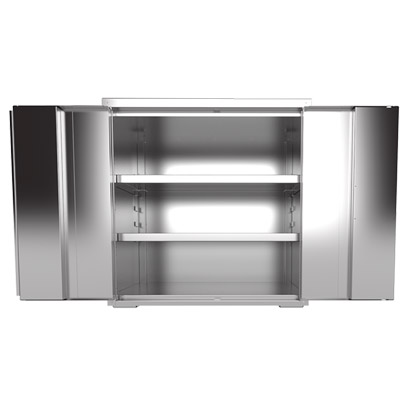 "Stainless Steel Cabinet with Paddle Latch Handle - 36""W x 24'D"