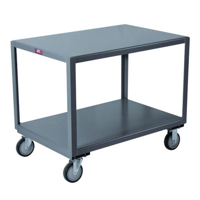 2 Shelf Mobile Table, 1,200 lb. Capacity, 30' Wide