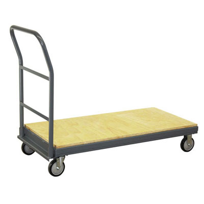 "Wood Capped Steel Platform Truck, 24"" Wide"