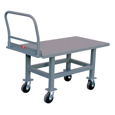 "Ergonomic Platform Truck- 2,000 lb. Capacity, 30"" Wide x 60"" Long"