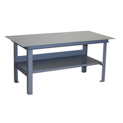 "Heavy & Mill Duty Work Table, 12,000 lb cap. w/ 3/16"" Plate Top"