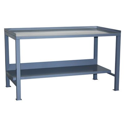 "Heavy Duty Workbench with Lips Up, 36"" Deep"