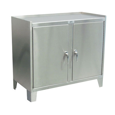 "Stainless Steel Work Height Cabinet w/ 2 Doors, 36""W x 18""D"