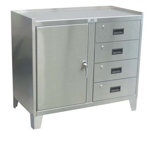 Stainless Steel Tall Kitchen Cabinet: Jamco, ZV236, Stainless Steel Work Height Cabinet W/ 1