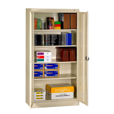 Easy To Assemble Standard Storage Cabinet, Recessed Handle - 36'W x 24'D x 72'H