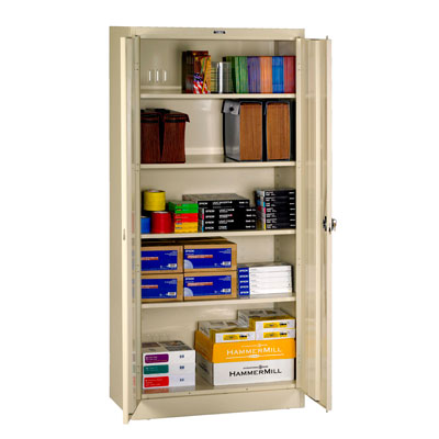 Deluxe Storage Cabinet, Recessed Handle - 36'W x 24'D x 78'H