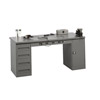 Electronic Workbench With Steel Top And Modular Pedestals