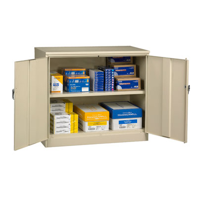 Jumbo Desk-Height Storage Cabinet - 48'W x 18'D x 30'H