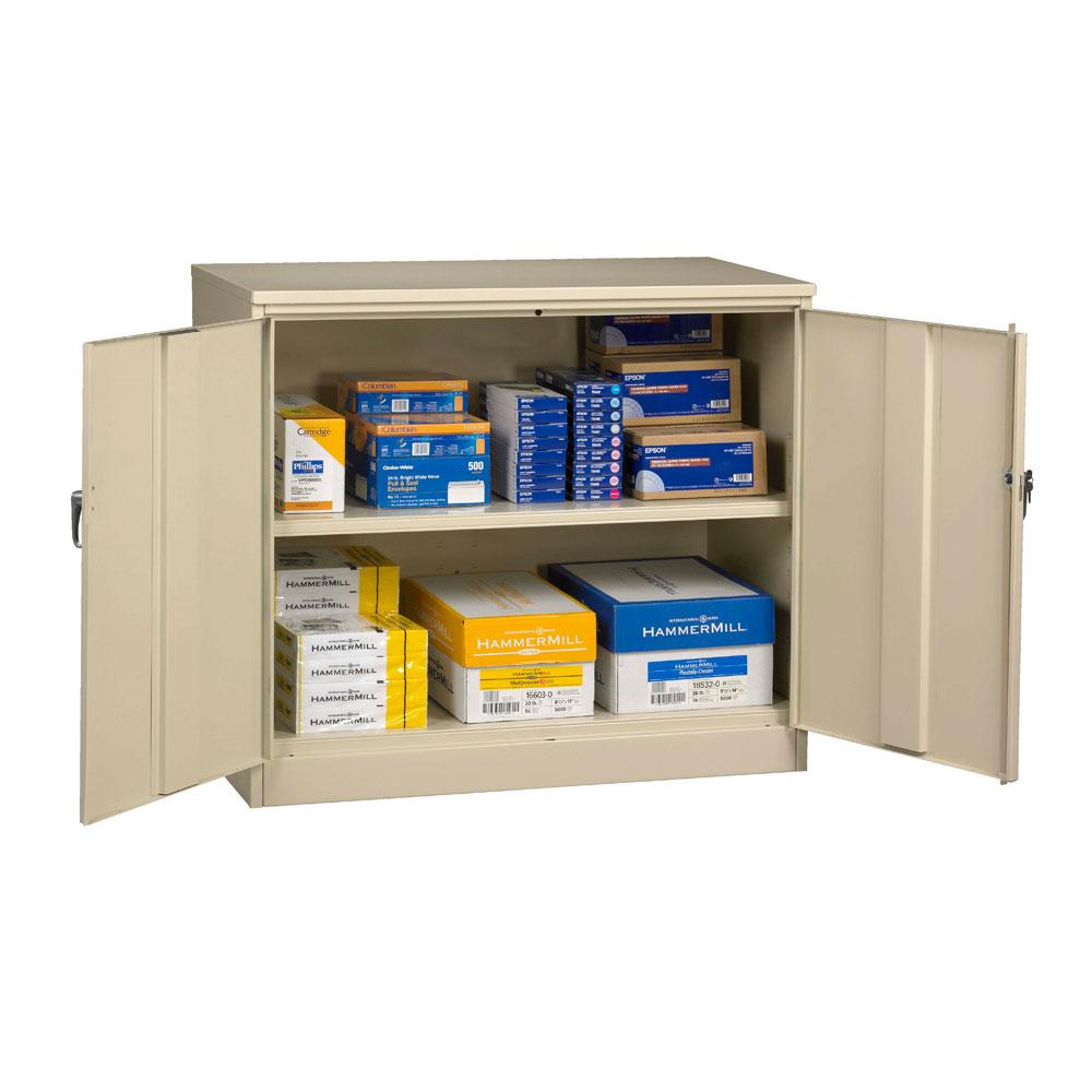Counter Height Cabinet Tennsco J2442su Jumbo Counter Height Storage Cabinet 48w X 24
