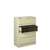Four Drawer Lateral File w/ Retractable Doors - 30'W x 17-15/16'D x 51-1/4'H