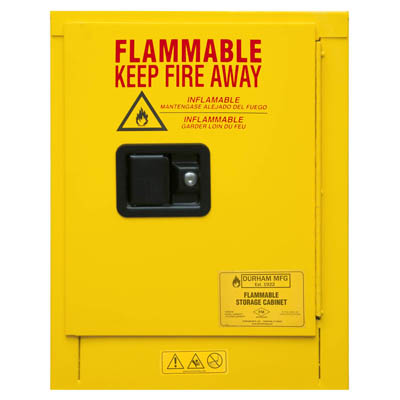 "Flammable Safety Cabinet, 4 Gallons (15L) - 17-3/8""W x 18-1/8""D"