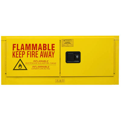 "Flammable Safety Cabinet, 12 Gallons (45L) Horizontal - 43-1/8""W x 18-1/8""D x 18-1/8""H"