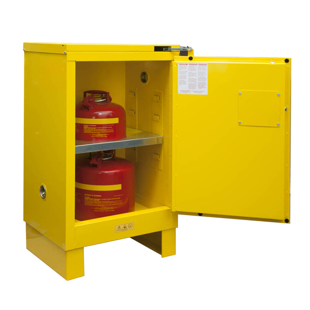 "Flammable Safety Cabinet with Legs, 12 Gallons (45L) - 23""W x 18""D"