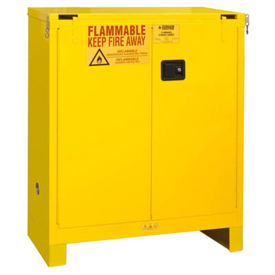 "Flammable Safety Cabinet with Legs, 30 Gallons (114L) - 43""W x 18""D"