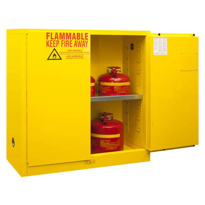 "Flammable Safety Cabinet, 30 Gallons (114L) - 43""W x 18""D"