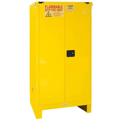 "Flammable Safety Cabinet with Legs, 60 Gallons (227L) - 34""W x 34""D"