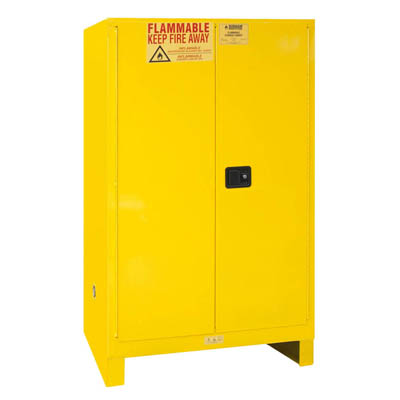 "Flammable Safety Cabinet with Legs, 90 Gallons (340L) - 43""W x 34""D"