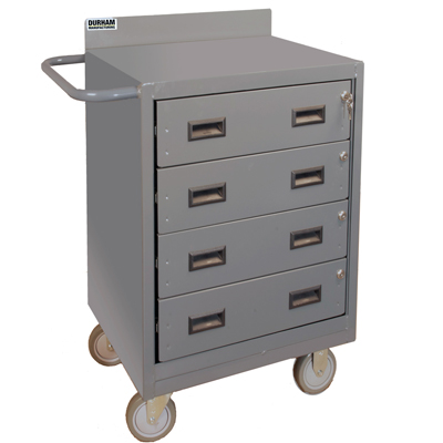 "24"" Wide Mobile Bench Cabinet with 4 Drawers"