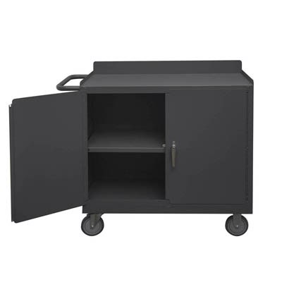 "Mobile Workstation with Lockable Storage Compartment - 36""W"
