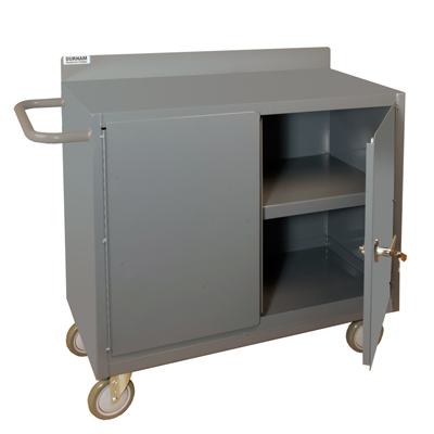 "48"" Wide Mobile Cabinet with Lockable Storage Compartment"