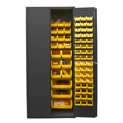 "14 Gauge Cabinet with 138 Hook-On Bins - 36""W x 24""D x 84""H"