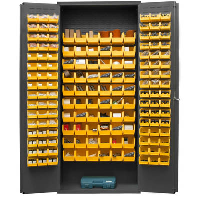 "16 Gauge Cabinet with 156 Hook-On Bins - 36""W x 18""D x 84""H"