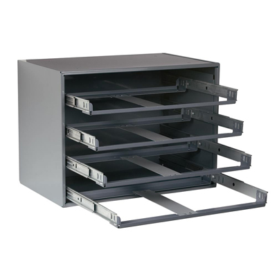 Slide Rack, Holds 4 Compartment Boxes