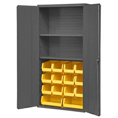 "36"" Wide Cabinet with 14 Bins & 2 Shelves (Flush Door Style)"