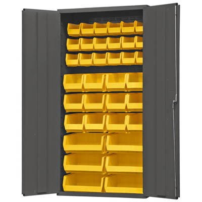 "36"" Wide Cabinet with 36 Bins (Flush Door Style)"