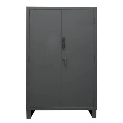 "Heavy Duty Solid Door Cabinet with Electronic Access Control - 48""W x 24""D x 78""H"