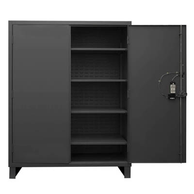 "Heavy Duty Solid Door Cabinet with Electronic Access Control - 60""W x 24""D x 78""H"