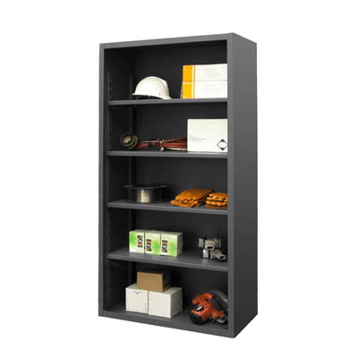 "12 Gauge Heavy Duty Enclosed Shelving - 36""W x 24""D x 72""H"