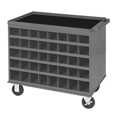 2 Sided Cart with 80 Bins