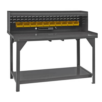 "Heavy Duty Workbench with Riser - 60""W x 30""D x 50""H"
