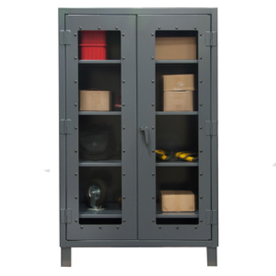 "Extra Heavy Duty 48"" Wide 12-Gauge Clearview Cabinet"
