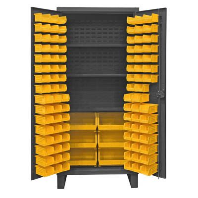 Extra Heavy Duty 12-Gauge Cabinet with 102 Bins and 3 Shelves