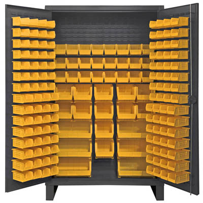 Extra Heavy Duty 12-Gauge Cabinet with 162 Hook-On Bins