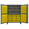 Extra Heavy Duty 12-Gauge Cabinet with 156 Bins and 3 Shelves