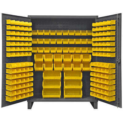 Extra Heavy Duty 12-Gauge Cabinet with 198 Hook-On Bins