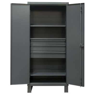 Extra Heavy Duty 12-Gauge 3 Drawer Cabinet with 3 Shelves
