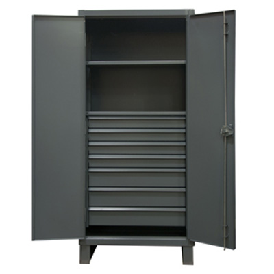 Extra Heavy Duty 12-Gauge 7 Drawer Cabinet with 2 Shelves
