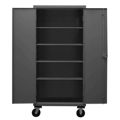 Mobile Cabinet with 4 Shelves, 12 Gauge - 36'W x 24'D x 80'H