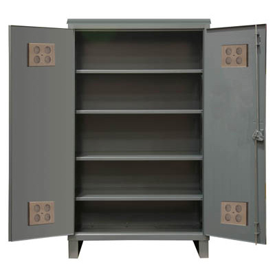 "Extra Heavy Duty 12-Gauge Outdoor Shelf Cabinet, 36""W X 24""D X 78""H"