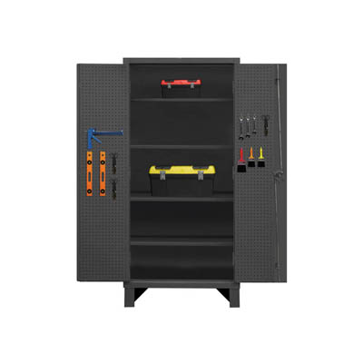Extra Heavy Duty 12-Gauge Pegboard and Shelf Cabinet