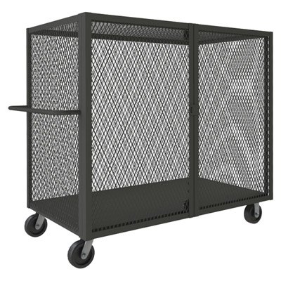 Mesh Style Security Trucks with Double Doors, No Shelves (2,000 lbs. capacity)