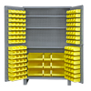 "48"" Wide Cabinet with 137 Bins & 3 Shelves (Flush Door Style)"